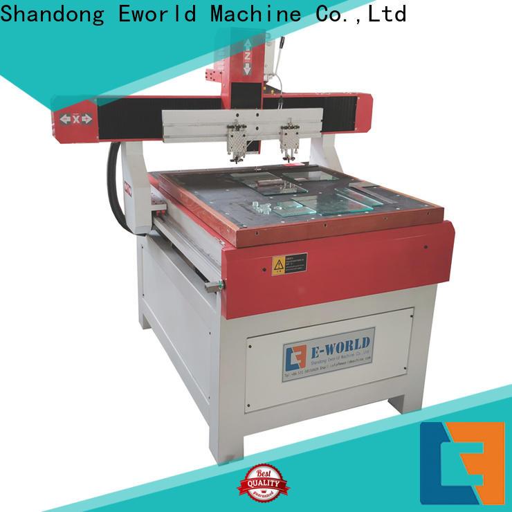 Eworld Machine high reliability cnc glass cutting machine price dedicated service for sale