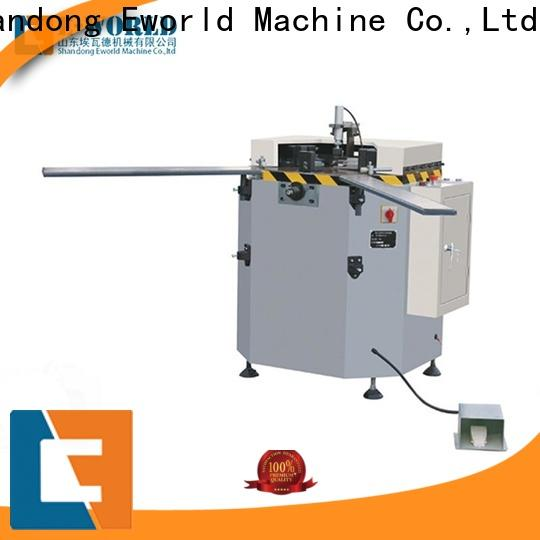 Eworld Machine automatic aluminum double head cutting saw OEM/ODM services for industrial production
