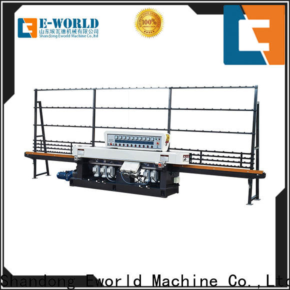 Eworld Machine size glass edge processing machinery supplier for global market