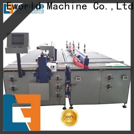 Eworld Machine semiautomatic automatic glass cutting production line foreign trader for sale