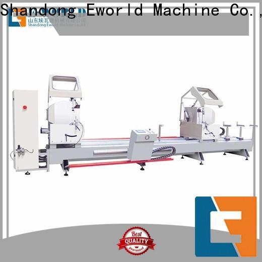 Eworld Machine technological aluminum window making machine manufacturer for manufacturing