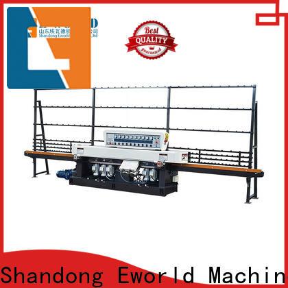 Eworld Machine irregular belt edge glass edging machine supplier for industrial production