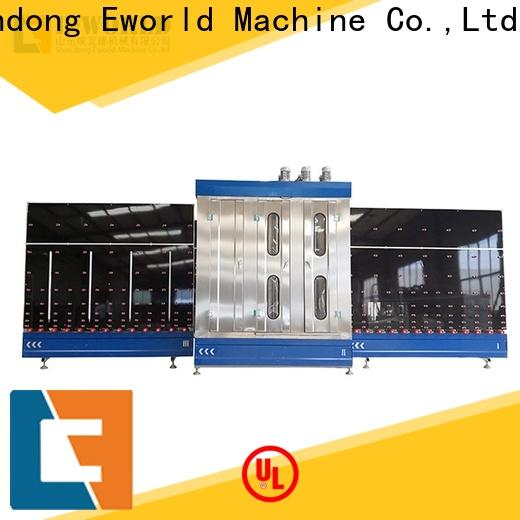 Eworld Machine speed automatic glass washing and drying machine factory for manufacturing