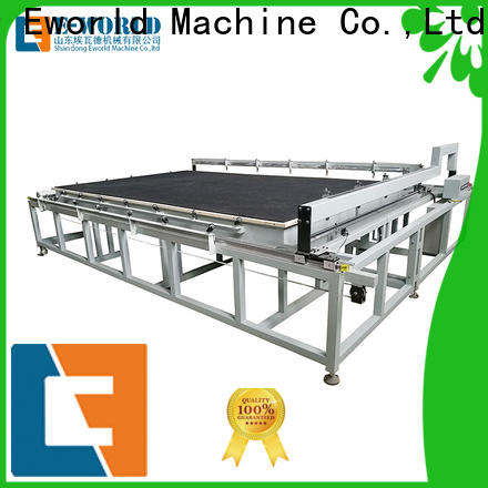 Eworld Machine breaking laminated glass cutting table foreign trader for industry