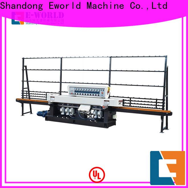 Eworld Machine multi glass straight line edging machine supplier for industrial production