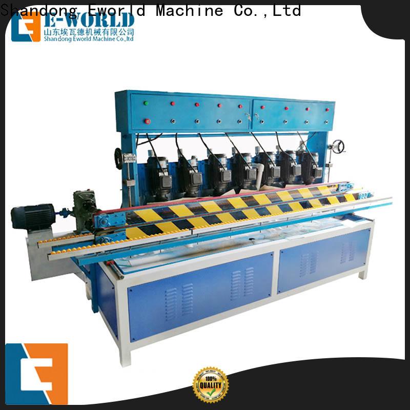Eworld Machine round hand held glass edge polishing machine company for industrial production