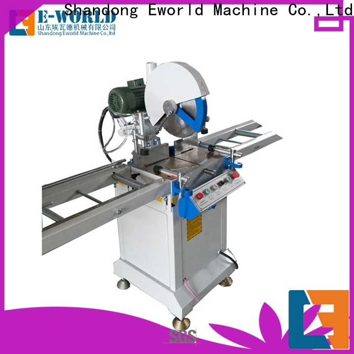 Eworld Machine profile double head cutting machine for business for manufacturing