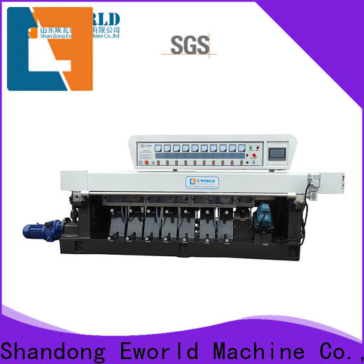 Eworld Machine double glass edge grinding machine factory for industrial production