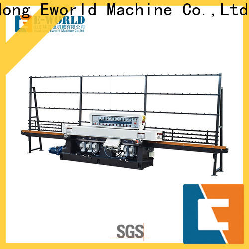 Eworld Machine automatic glass edging machine for sale factory for industrial production