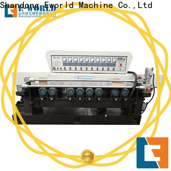 Eworld Machine automatic glass edge processing machine suppliers for global market