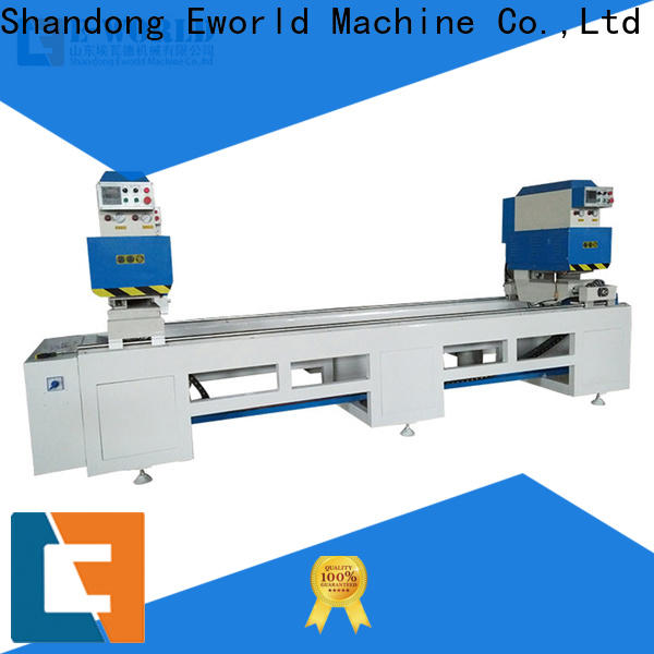 Eworld Machine custom double head cutting saw company for industrial production