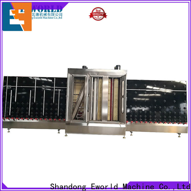 Eworld Machine New horizontal glass washing and drying machine company for manufacturing