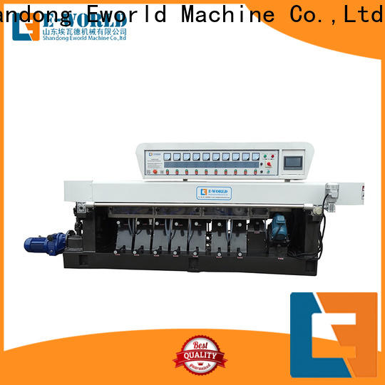 Eworld Machine double portable glass edge polishing machine for business for manufacturing