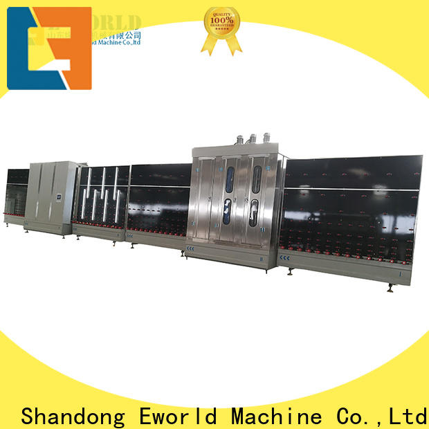 Eworld Machine vertical insulating glass machine for curtain wall factory for manufacturing