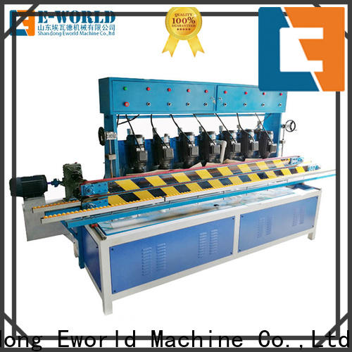 Eworld Machine size glass straight line edging machine company for industrial production