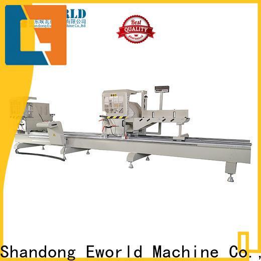 Eworld Machine windows aluminum double head cutting window machine company for global market