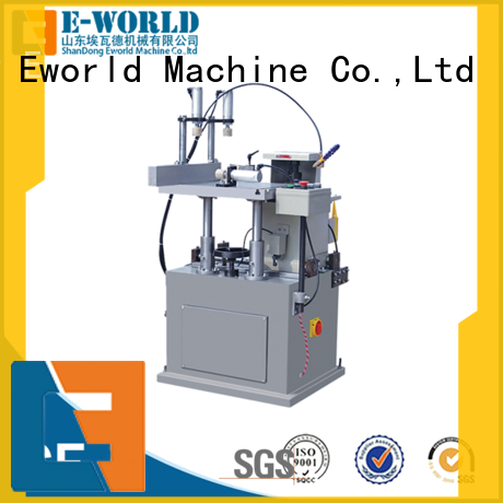 Eworld Machine double aluminum window door assemble machine supplier for industrial production