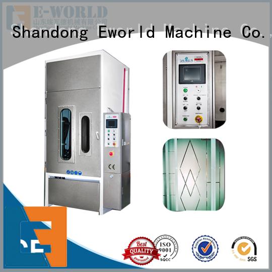 Eworld Machine low moq manual glass sandblasted machine from China for industry