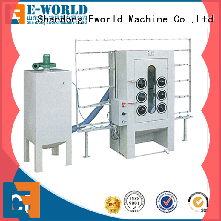 Eworld Machine vertical glass sand blasting machine from China for industry