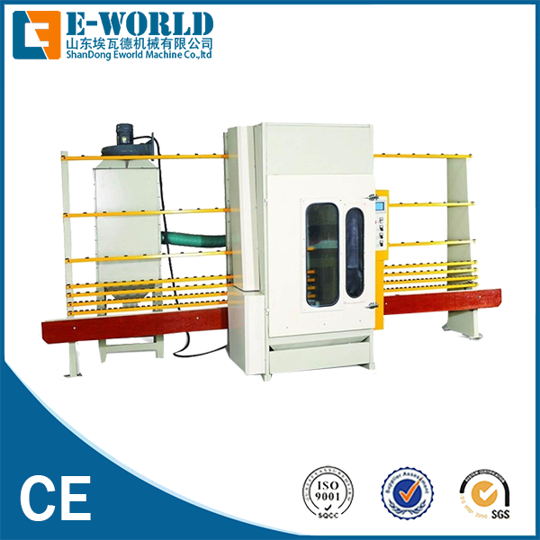 Eworld Machine manual horizontal glass sandblasting machine factory price for industry-2