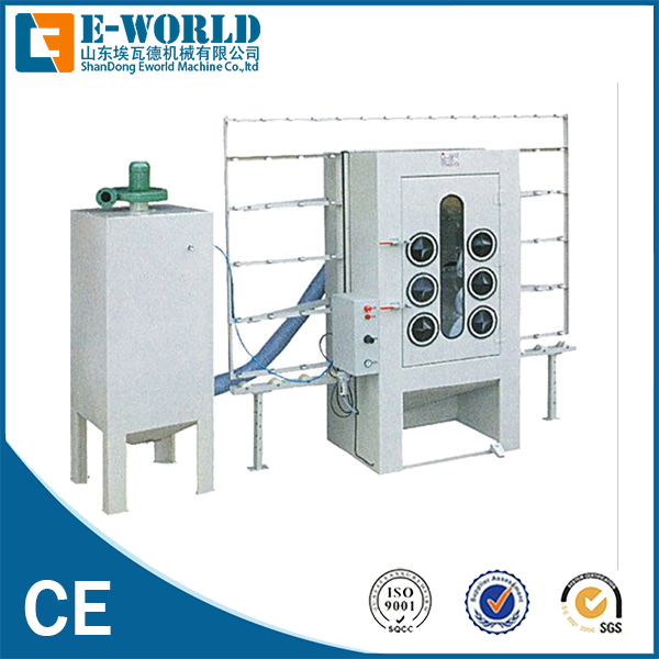 Eworld Machine vertical furniture glass sandblasted machine factory price for industrial production