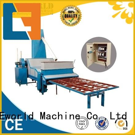 Eworld Machine horizontal manual glass sandblasted machine from China for industry