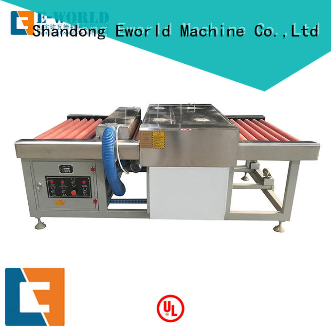 Eworld Machine glass glass cleaning machine factory for manufacturing