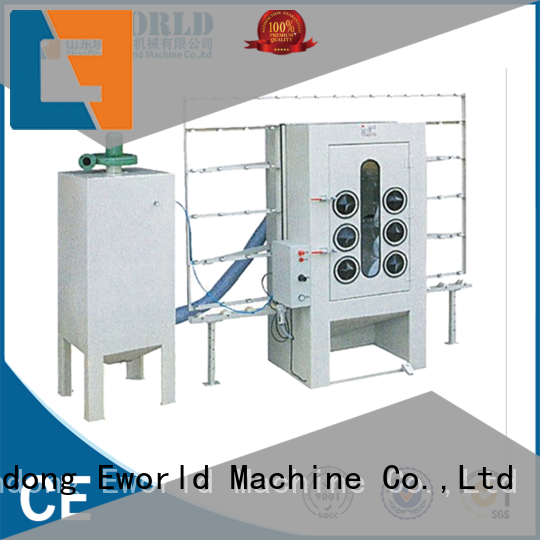 Eworld Machine horizontal glass sand blasting machine from China for industrial production