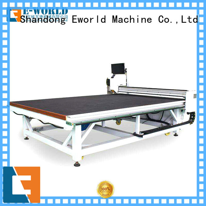 Eworld Machine reasonable structure glass cutting machine for sale dedicated service for industry