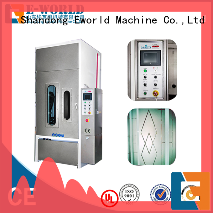 Eworld Machine productivity sandblasting glass machine from China for industrial production