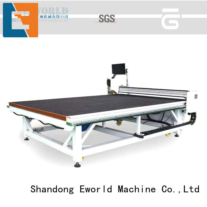 Eworld Machine good safety cnc glass cutting foreign trader for industry