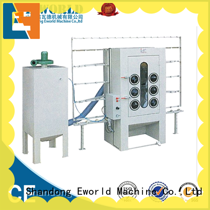 Eworld Machine inventive vertical glass sandblasting machine factory price for manufacturing