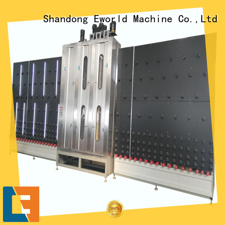 Eworld Machine horizontal glass cleaning machine factory for distributor