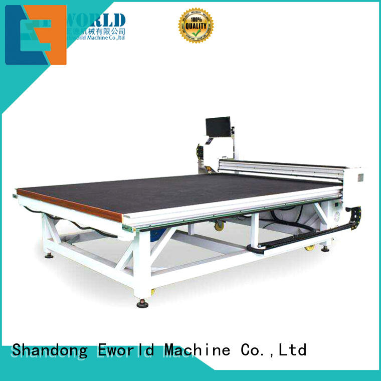 Eworld Machine semiautomatic small glass cutting machine foreign trader for industry