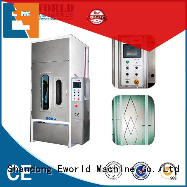 low moq automatic glass sand blasting machine machinery from China for industrial production