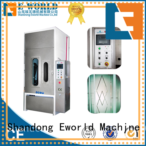 Eworld Machine horizontal auto sandblasting machine factory price for industrial production