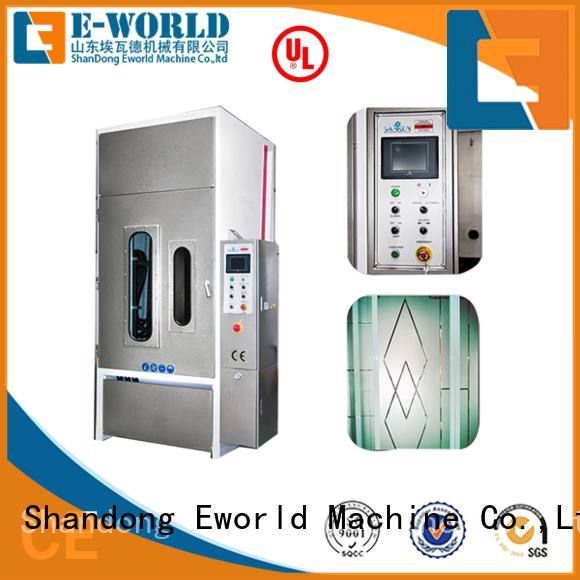 Eworld Machine sandblasted furniture glass sandblasted machine factory price for industry