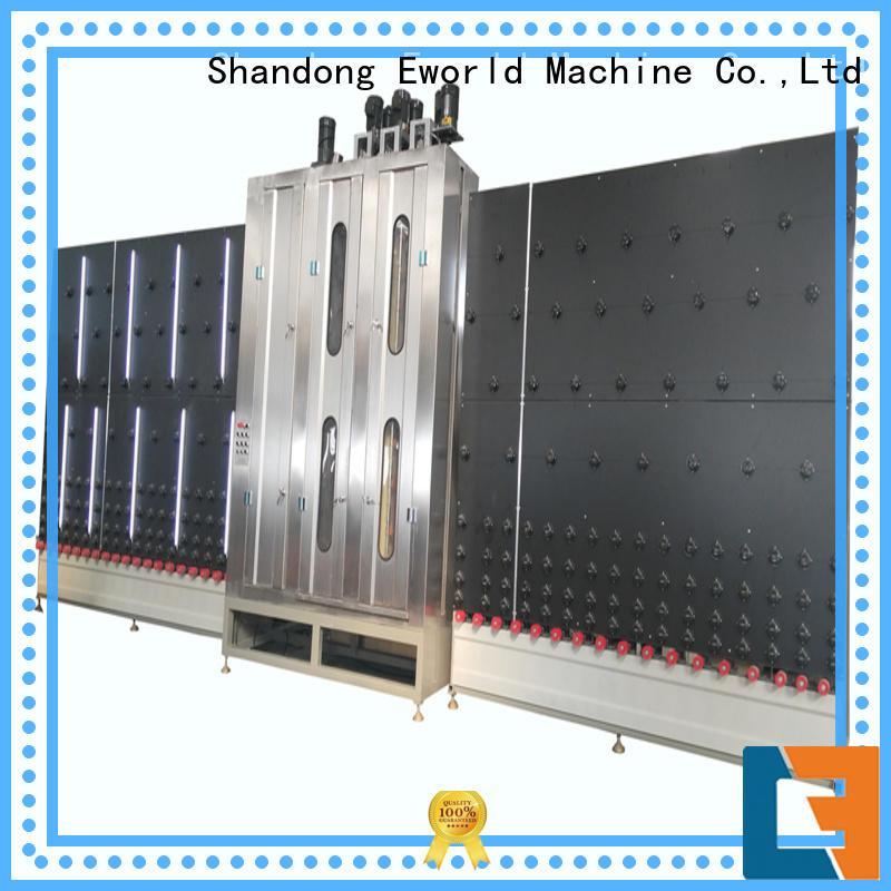 Eworld Machine technological horizontal glass washing machine factory for distributor