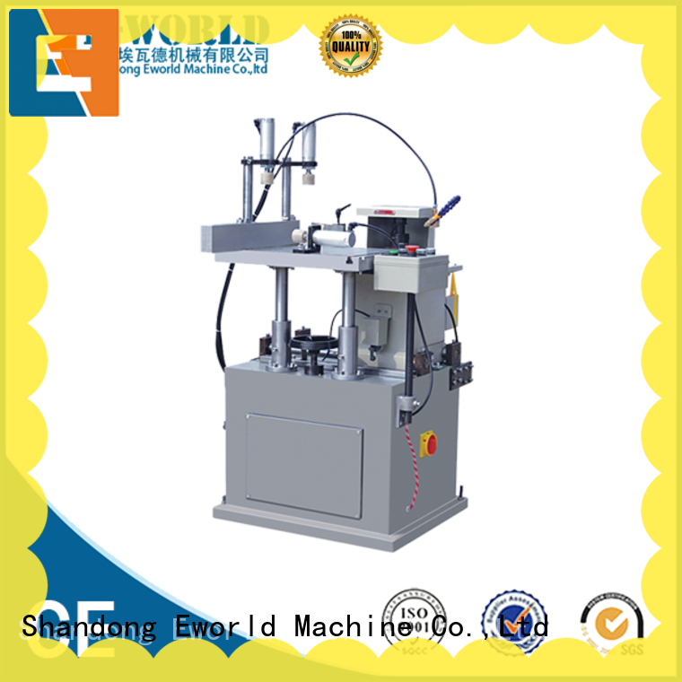 Eworld Machine automatic aluminum double head cutting window machine OEM/ODM services for industrial production