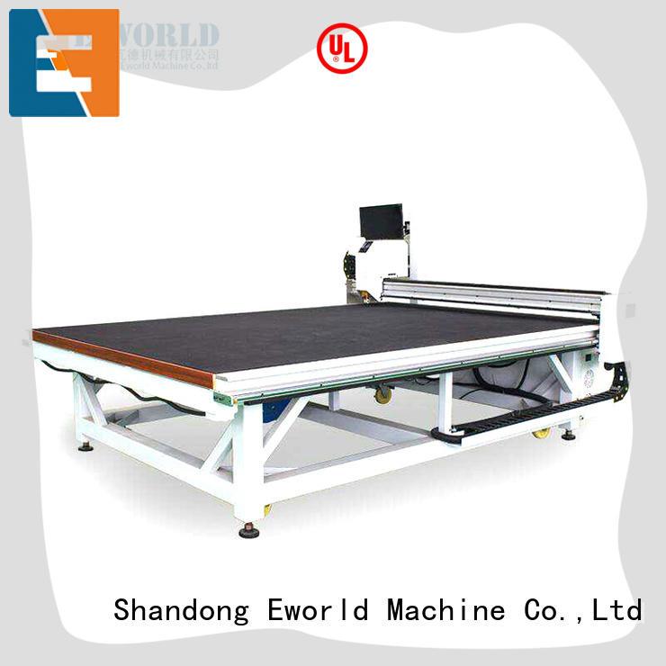 Eworld Machine round cnc glass cutting machine dedicated service for industry