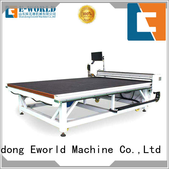 Eworld Machine breaking glass loading cutting table foreign trader for industry