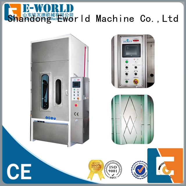 Eworld Machine competitive price sandblasting glass machine from China for manufacturing