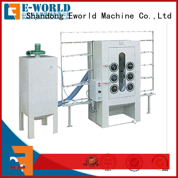 Eworld Machine competitive price furniture glass sandblasted machine factory for manufacturing