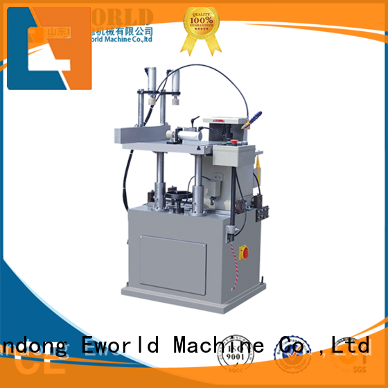 Eworld Machine fine workmanship aluminum window door assemble machine manufacturer for industrial production