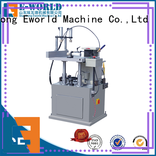 Eworld Machine trade assurance aluminum windows corner combining machine supplier for industrial production